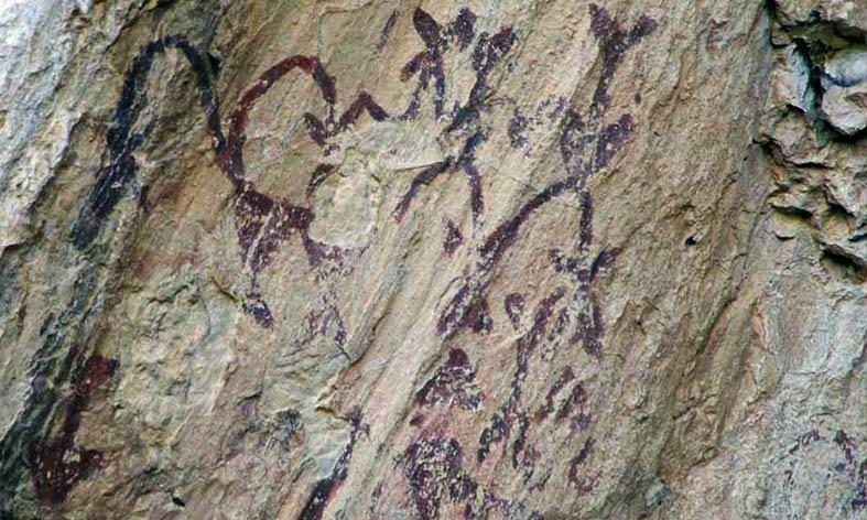 'Una cueva, un brujo y un letrero'